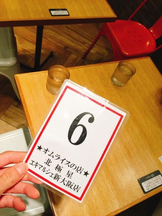 渡される番号札