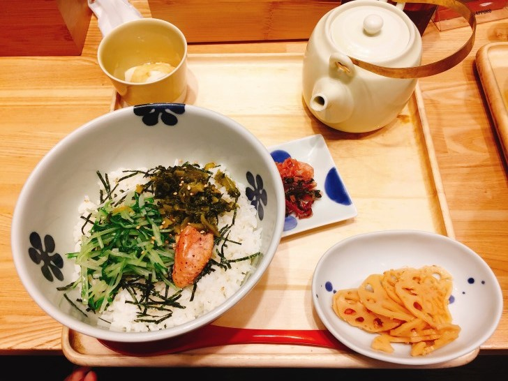 炙り明太子と高菜茶漬け