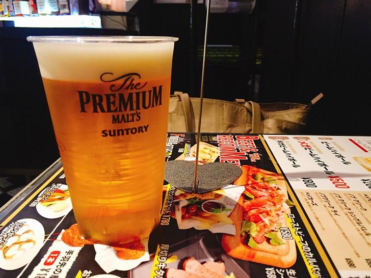プラカップで出てくるビール