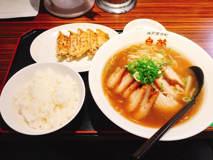 バラチャーシューメンと餃子セット