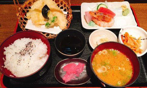 さしみ天ぷら定食
